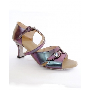 Sepatu Latin Purple Leather Metalic